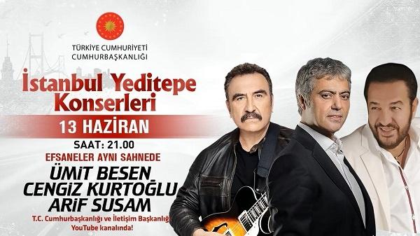 Ümit Besen &Cengiz Kurtoğlu & Arif Susam İstanbul Yeditepe Konserleri 13.06.2020 Konser indir